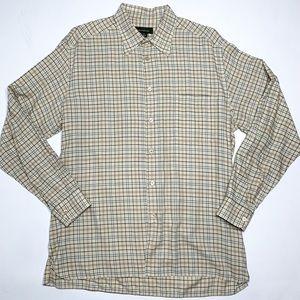 Ermenegildo Zegna tartan plaid button shirt XL